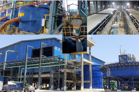 DELKOR process solution for cement, flotation cells with MAXGen mechanism, horizontal belt filters, and high-rate thickeners