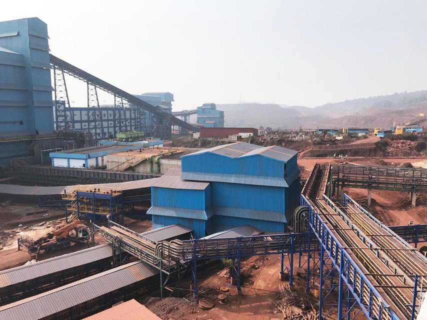 iron ore crushing and washing plant in India, designed for processing 8 million tons of ore